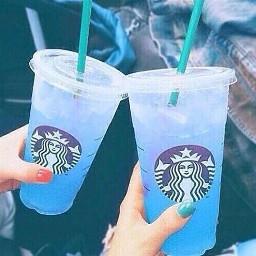 blue aesthetic cold starbucks freetoedit