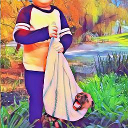 freetoedit prettygirl beautiful puppy river irchappypuppy happypuppy