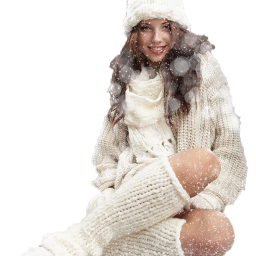 winter woman women girl snow freetoedit