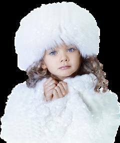 littlegirl winter snow frost people freetoedit