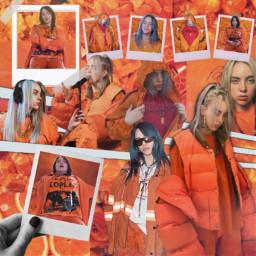 freetoedit billieeilish billie eilish orange
