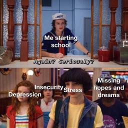 strangerthings meme memes strangerthingsmemes depression scoopsahoy