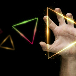 freetoedit triangle neon hand 4asno4i ftestickers scneons