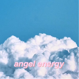 angel cute clouds quote aesthetic