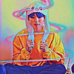 freetoedit jungkook kook bunny bts