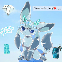 eeveelution lightblue glaceon freetoedit