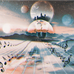 music planets bulb city differentworld freetoedit