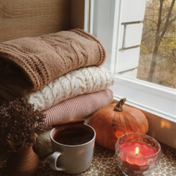 cozy coffee candle freetoedit