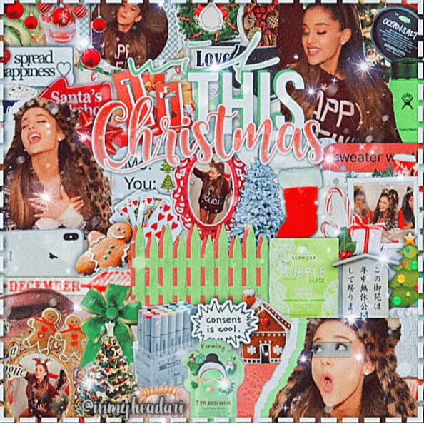 """click more! ✨☁️~~~~>   hello there lovely human and/or alien! 🤠   hope u are doing 1000%, and if not, feel free to dm me!    this theme is complex edits of other ppl i stan including ariana!    yUm  its a santa tell me edit! yaY    edit details!  person; ariana grande duh ✨ event; santa tell me mv ✨ colors; red n green 🎄 lyrics; with it this christmas premades; meeee etc; thank u again @gardenrosee 💗🥺 for sariah's contest! @hopefulgrande #sarmascontest today details! date; December 5th  time; 4:02 pm weather; cloudy n cold mood; 😋😌 song; bad decisions- ariana  """"aint u ever seen a princess be a bad bit*h?""""    ok so today when i was walking home my x crush like lives near me and walks the same way ans basically we talked the entire time and it was actaully entertaining i-  Mmmk that's it for now~~~~~~~      Adios!    my forever {girl}: @lcvelyboca 🥺💕👯♀️💫   Comment ☁️ to join! Tags:  @peachesnbibbles @bibblesncream @hopefulgrande  @cottoneclipse @editingisland @itzda_tea   #arianagrande #edit #complex #santatellme"""