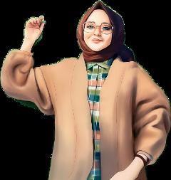 ftestickers hijab girl freetoedit