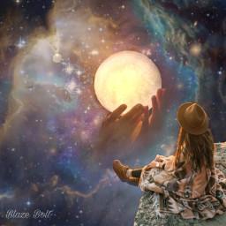 freetoedit surreal fantasy galaxy planet