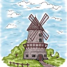 challenge windmill colourful natural bluesky freetoedit dcwindmills windmills