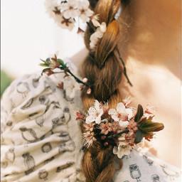 freetoedit flowers hair