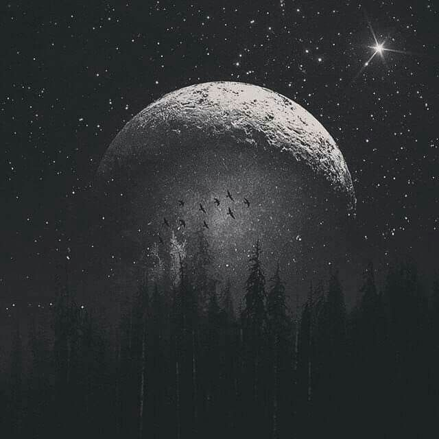 #blackandwhite #night #moon #madewithpicsart  @irethf5  #freetoedit