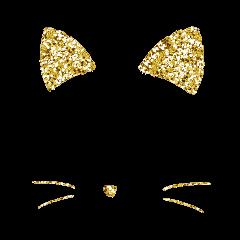 glitter freetoedit neon cat hat ftestickers