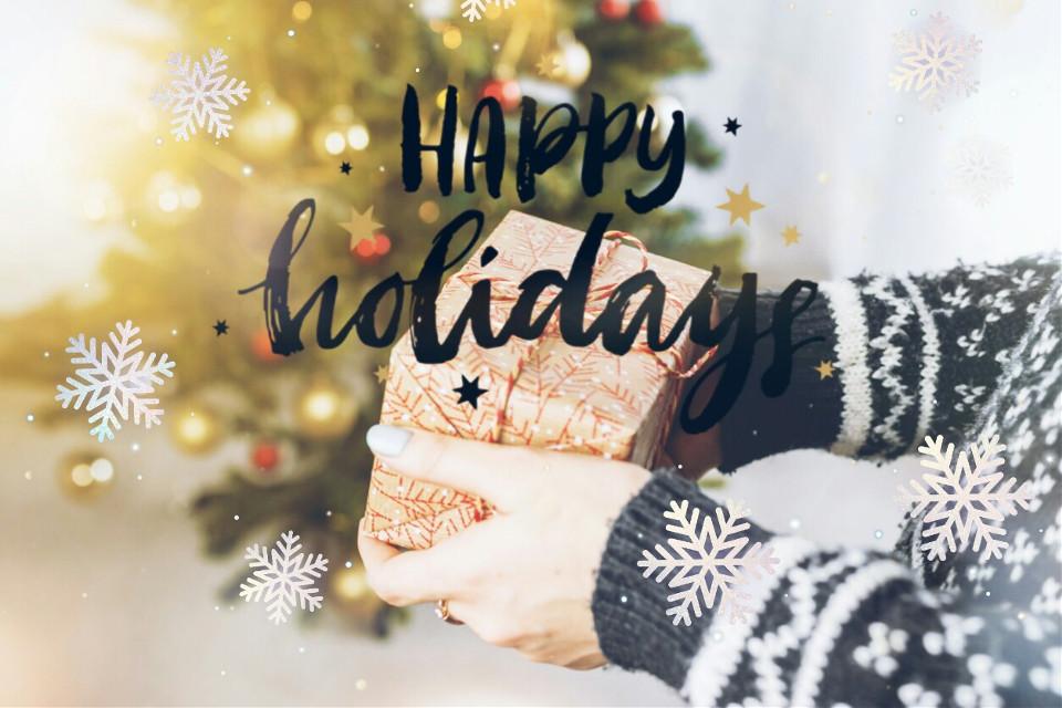 #freetoedit #gift #holiday #snow