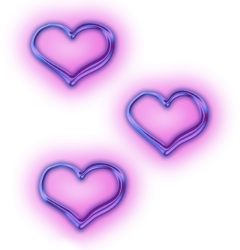 neon purple heart hearts purpleheart freetoedit