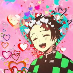 love heart hearts colorful anime freetoedit
