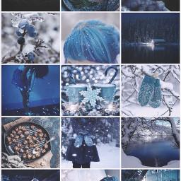 @asweetsmile1 winter mood blue snow