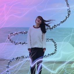 freetoedit windy girl lights neon ircwindyportrait windyportrait