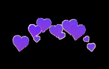 purple heart heartpurple crown heartcrown freetoedit