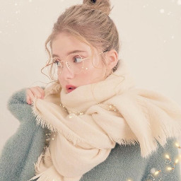 twinklestarsbrush stars heppynewyear scarf pink