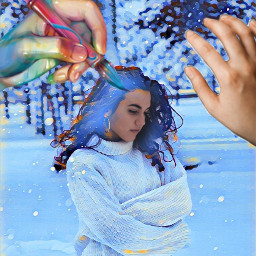 freetoedit desafio snow girls paint ircinthesnow