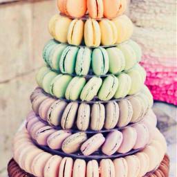 freetoedit rainbow macarons happytaeminday fotoedit
