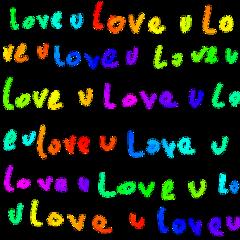 messy kidcore rainbowcore text freetoedit