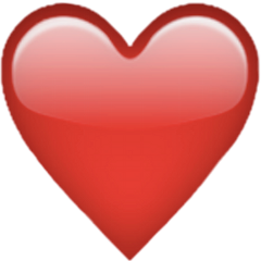 freetoedit adesivo heart red emoji blush