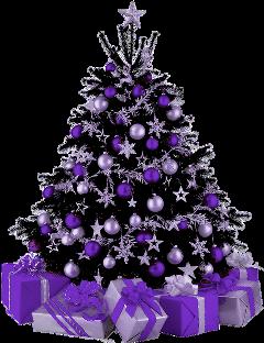tree christmas purple freetoedit