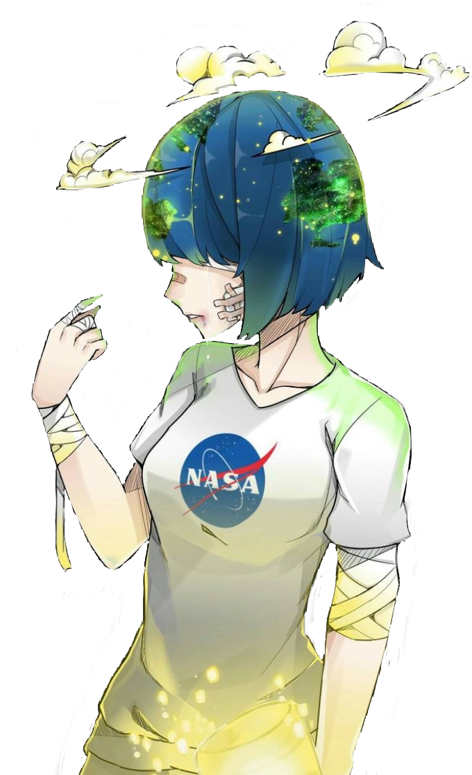 #anime #girl #animegirl #earth #animeearth #earthgirl #animeearthgirl #sad #sadgirl