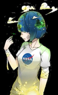 anime girl animegirl earth animeearth freetoedit