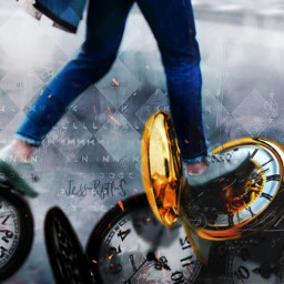 freetoedit madewithpicsart passingtime time clock