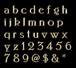 lucymy alfabeto oro freetoedit