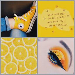 freetoedit yellow yellowaesthetic lemon eyeshadow