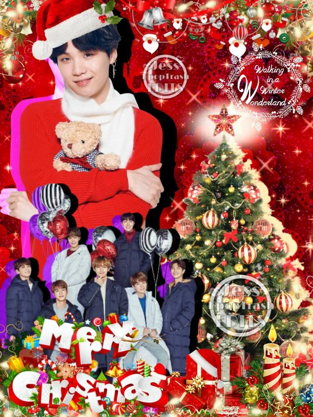 Merry Christmas loves 😘💖🌸 I love y'all endlessly xoxoxo uwu xoxo 😍 💖 🌸   #kpop #christmas #bts #kpopedits  #minyoongi   #btschristmas