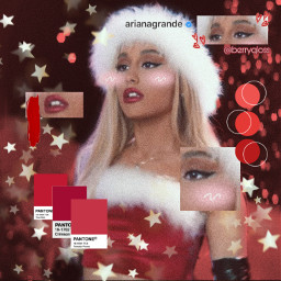 arianagrande red xmas christmas freetoedit ecchristmasmakeup christmasmakeup