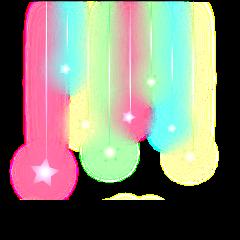colgante estrellas glitter freetoedit