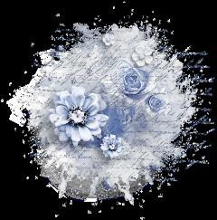 freetoedit blueflowers paper writing inksplash
