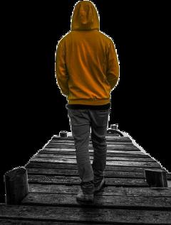 boy bridge stiker walk freetoedit