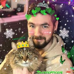 freetoedit jacksepticeye heisholdinghimsowncat he is