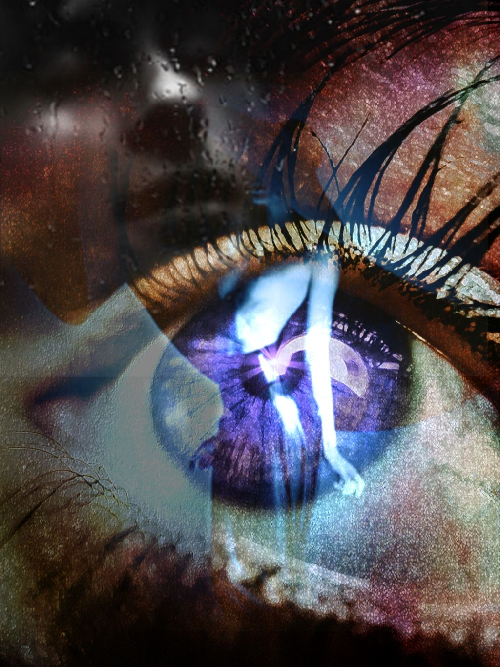 #freetoedit    Eye and emotions  #thoughts #feelings #face #woman #eye #dreams #tripleexposure