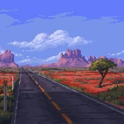 wasteland desert biome 8bit pixel