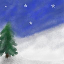 fanart art artistic moon night dcwinterwonderland winterwonderland