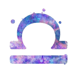 zodiac libra symbol watercolor freetoedit