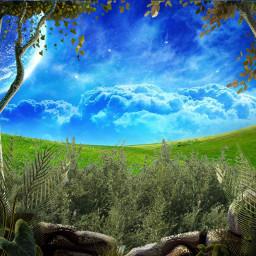 nature fantasy planet grassland fictional