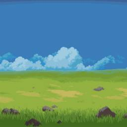 8bit grassland biome large nature