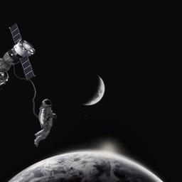 freetoedit astronaut moon space earth