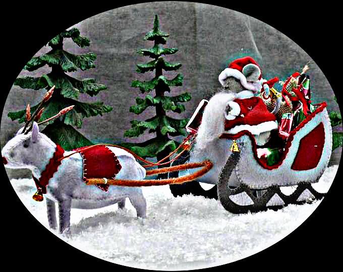 #freetoedit #felt #christmas #crafts #diy #snow #mouse #santa #sleigh #trees #reindeer #deer #rudolph #cute